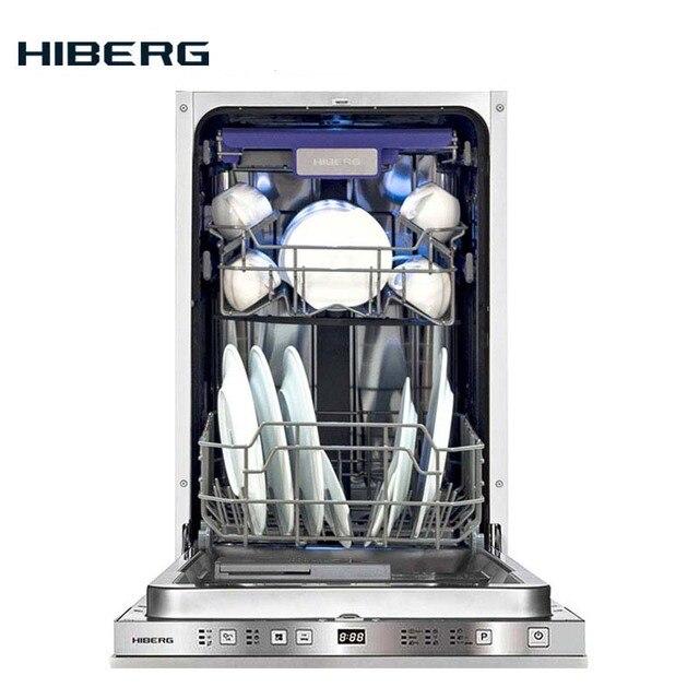 Посудомоечная машина Hiberg I49 1032 встраиваемая, 3 корзины, 10 комплектов посуды, Класс А++, Расход воды за цикл 9 литров