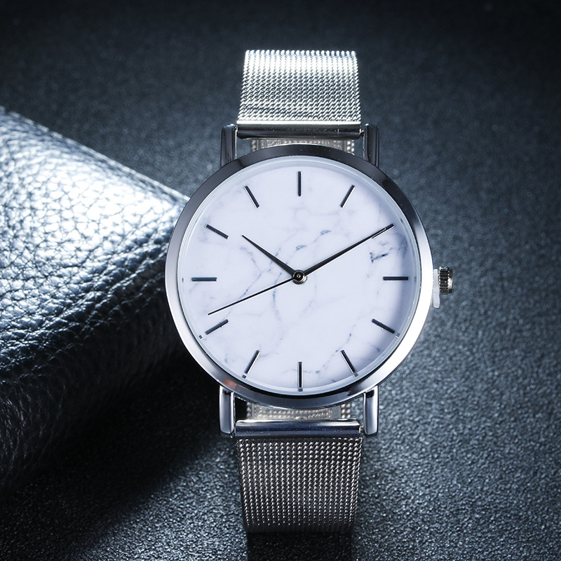 2018 Fashion women watches Marble Surface watches female Stainless Steel Gold watch women Quartz women watches relogio feminino