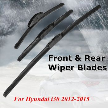 3Pcs Car Front & Rear Windscreen Window Wiper Blades 26 14 13 For Hyundai i30 2012 2013 2014 2015
