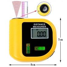 Handheld Ultrasone Afstandsmeter meter Tool LCD Laseraanwijzer
