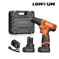 LOMVUM New Mini Cordless Screwdriver Power Instruments 24v Double Speed Electric Hand Tools Battery Electric Screwdriver Drill.