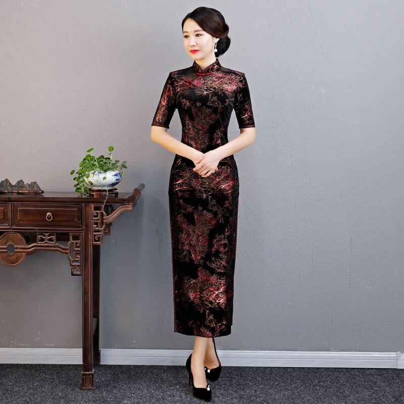 99fb4062ef41 Mujeres Shanghai Para Nueva Terciopelo Vestidos Vestido 2019 Corta ...