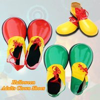 3 Colors 1 Pair Halloween Adult Clown Shoes Boots Comedy Fancy Costume Party Events Dress Decoration