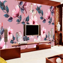 Hand-painted European pastoral rainforest Southeast Asian mural background manufacturers wholesale wallpaper mural custom photo