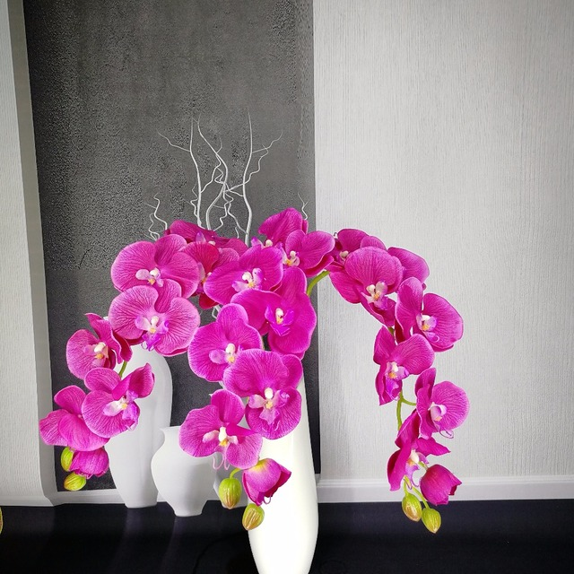 artificial flower Phalaenopsis latex silicon real touch big orchid orchidee wedding high quality single for home party decoratio