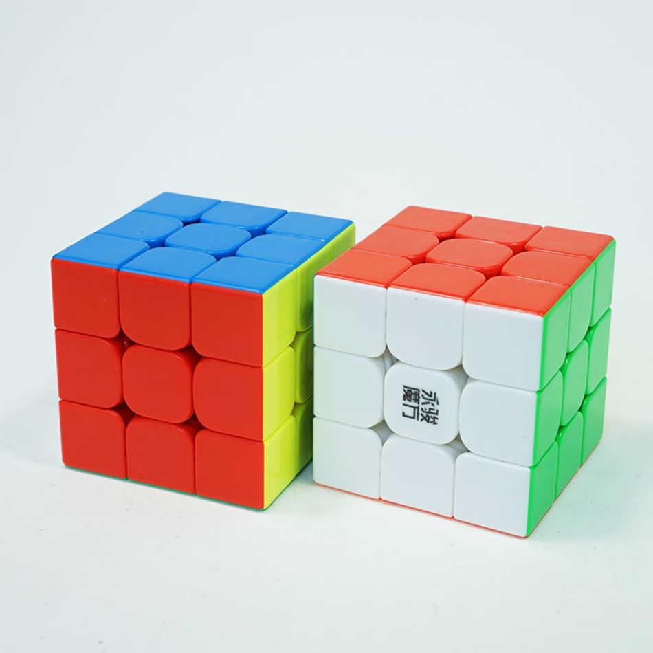 スピードキューブ yj Yulong2M 3 × 3 × 3 磁気マジックキューブ黒ラベルなし 56 ミリメートルキューブ脳のトレーニング子供のためのおもちゃ
