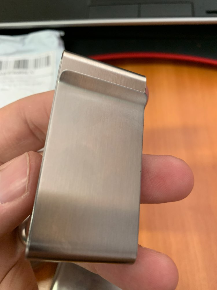 Stainless Steel Silver Color Slim Money Clip Purse Wallet Credit Card ID Holder  9R3F photo review