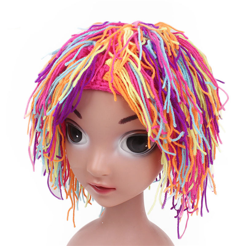 Eva2king Hot Sale Halloween Party Kid's Handmade Wig Hats High Quality HatFor Children Party Costume Gift Toys For Children