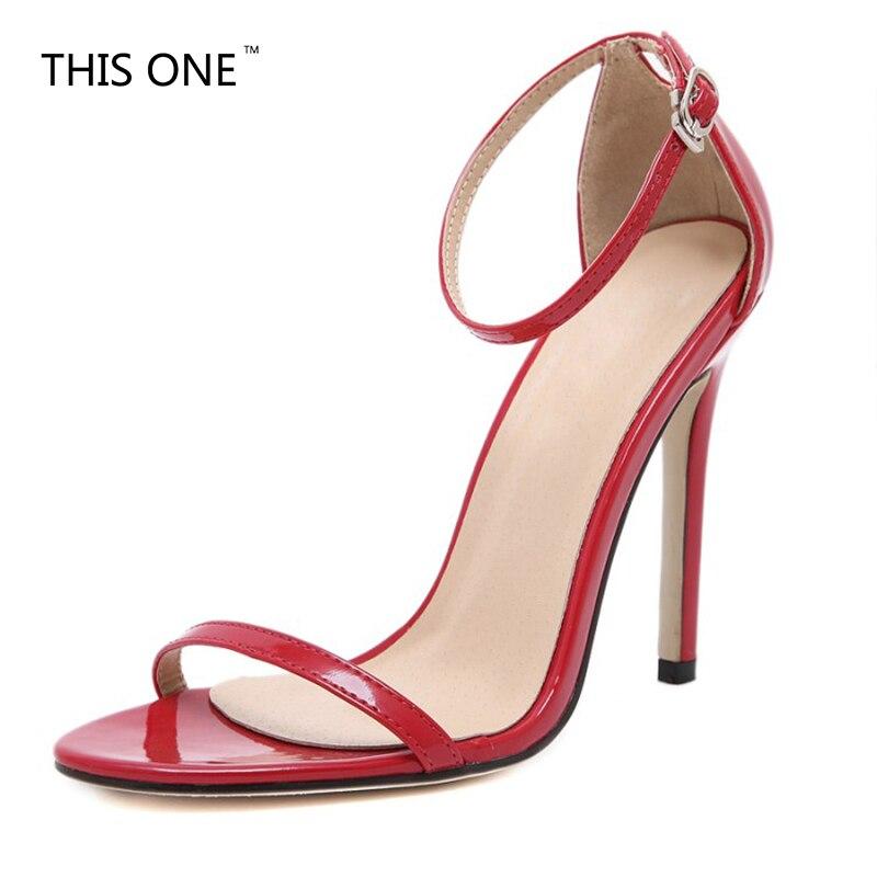Sexy Boucle Chaussures Hauts Creux Satin 2017 Toe Peep Femmes Mode Rouge Piège Blanc Mariage Bande Noir Talons À De Sandales Sangle Mince qWnnFztaO