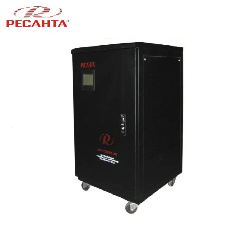 Single phase voltage stabilizer RESANTA ASN 15000/1-EM Voltage regulator Monophase Mains stabilizer Surge protect Power stab single phase voltage stabilizer resanta asn 500 1 em voltage regulator monophase mains stabilizer surge protect power stab