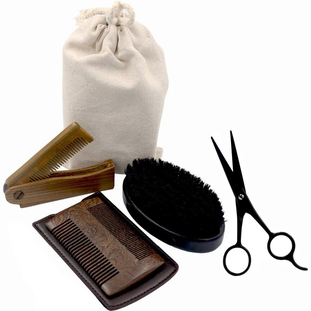 New Arrival Beard Grooming & Trimming Kit for Men Care – Beard Brush Beard Comb Barber Scissors for Styling Shaping & Growth