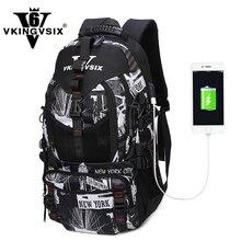 VKINGVSIX bags man backpack trend Korean waterproof sport outdoors hiking bag large capacity casual travel computer