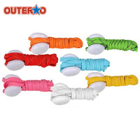OUTERDO Multicolored 1 PC LED Lighting Shoelace Colorful Light Roller Skates Shoes Lace Light Flashlight Colors Random Delivery