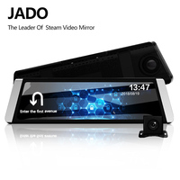JADO D800 Car Dvr Stream Rearview Mirror Camera LDWS GPS Track 10 IPS Touch Screen Full HD 1080P Car Dvrs Recorder Dash cam
