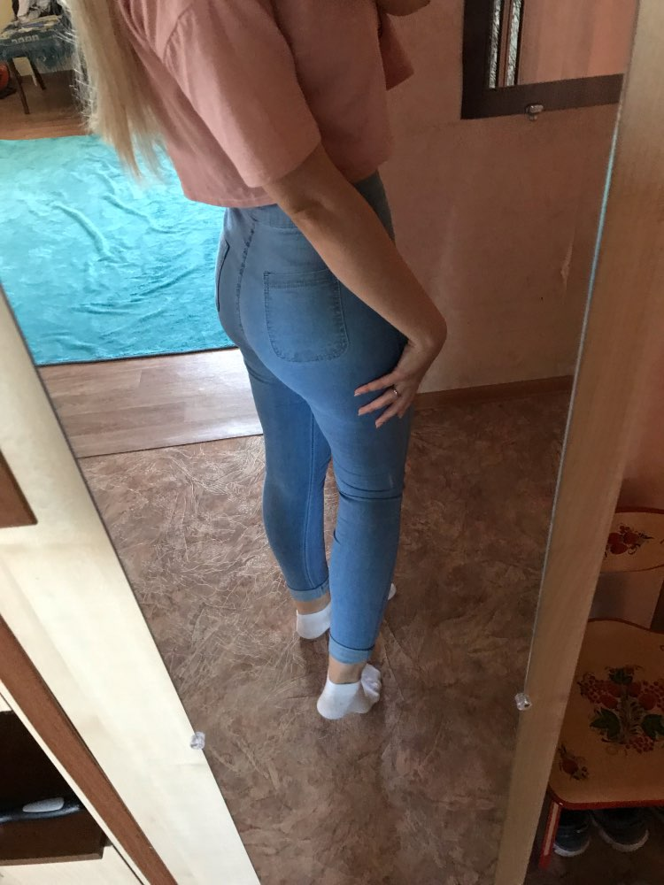 Jeans Women Pencil Pants High Waist Jeans Sexy Slim Elastic Skinny Pants Trousers Fit Lady Jeans Plus Size photo review
