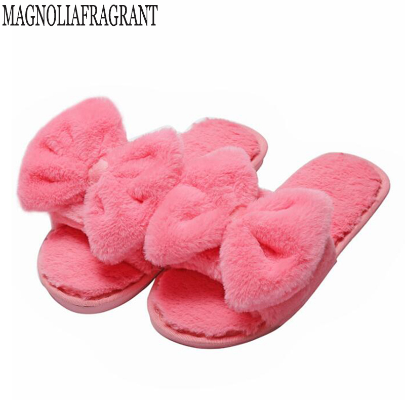 2018 New Indoor Fur Home Slippers Cotton Fabric Slippers Home Slippers Couples Wooden Floor Bow Plush Slippers For Women c211q2018 New Indoor Fur Home Slippers Cotton Fabric Slippers Home Slippers Couples Wooden Floor Bow Plush Slippers For Women c211q