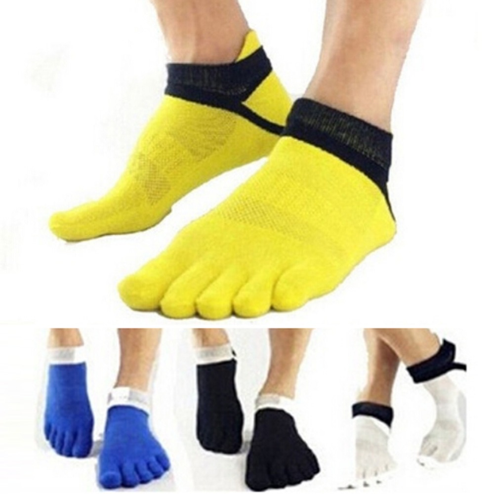 2018 Summer New Mens Socks Cotton Five Finger Socks Casual Toe Socks Breathable Calcetines Ankle Socks