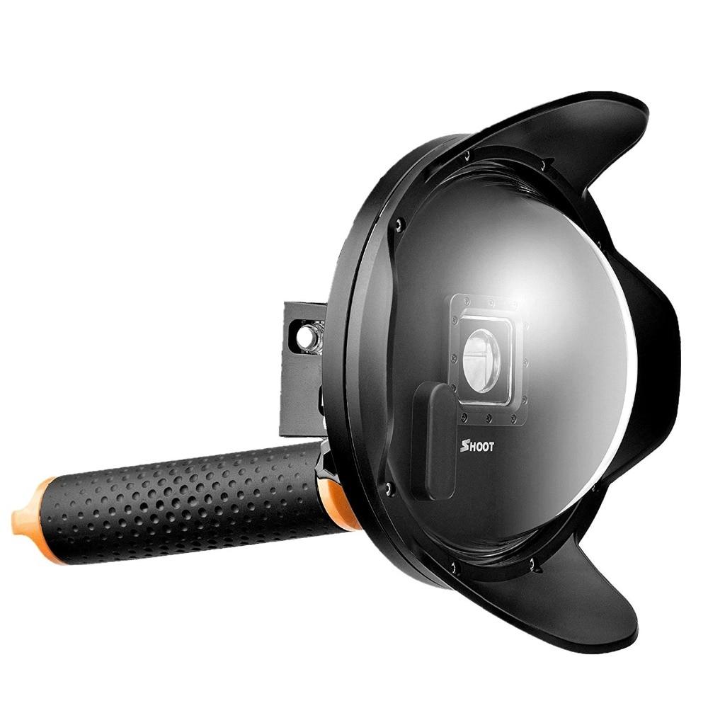 Nouveau Parasol 6 pouce Gopro Dôme Port Plongée Dôme Pour GoPro Hero 3 +/4 Avec Boîtier Étanche Float Bobber Gopro Hero 4 Accessoires