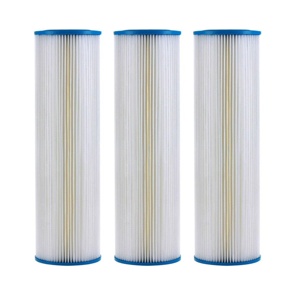 """Replacement 3 Pack Whole House Big Blue Sediment Filters 4.5/"""" x 20/"""" 5 Micron"""