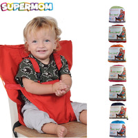 Baby Portable Seat Kids Chair Travel Foldable Washable Infant Dining High Dinning Cover Seat Safety Belt