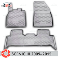 Floor mats for Renault Scenic 3 2009~2015 rugs non slip polyurethane dirt protection interior car styling accessories