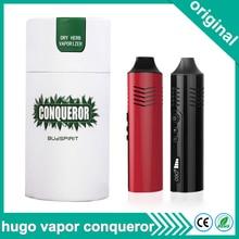 Original Hugo Vapor Conqueror Dry Herb Vaporizer 2200mAh Battery Electronic Cigarette Kit Vape Pen Temperature Control vaporizer
