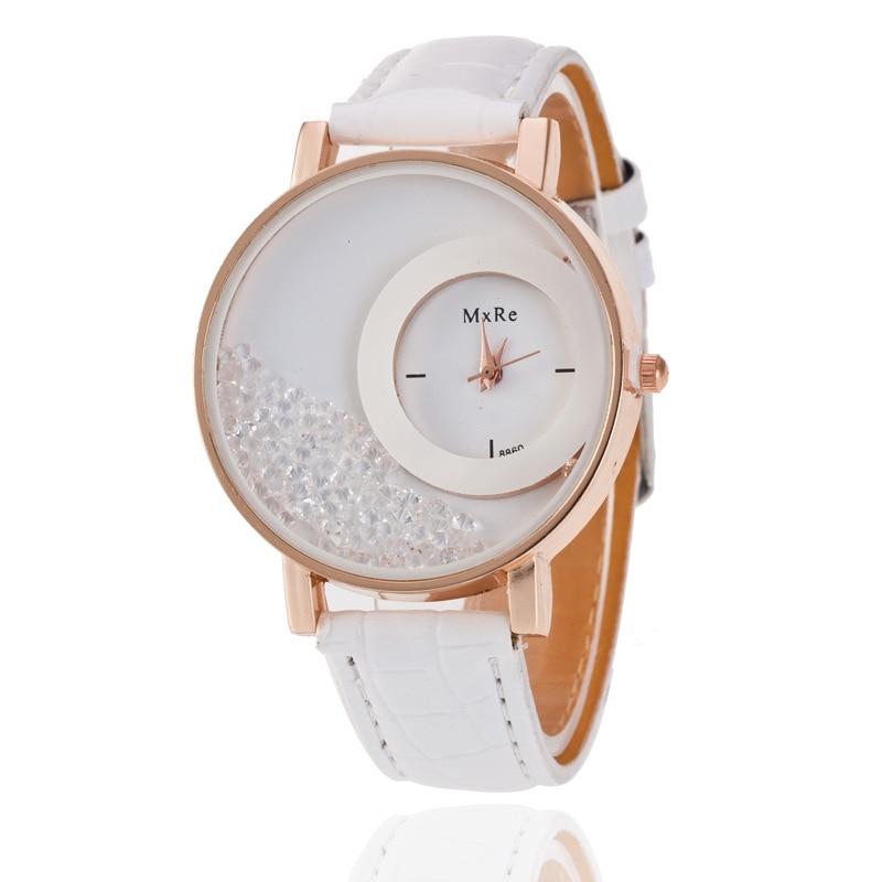 Luxury Brand Leather Crystal Quartz Watch Women Ladies Fashion Bracelet Wrist Watch Wristwatches Clock female relogio feminino Наручные часы
