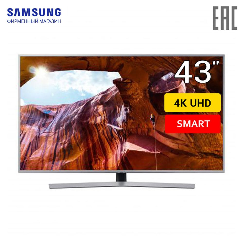 LED Television Samsung UE43RU7470UXRU smart TV 43 4k home video equipment 4049InchTv digital dvb dvb-t dvb-t2 цена и фото