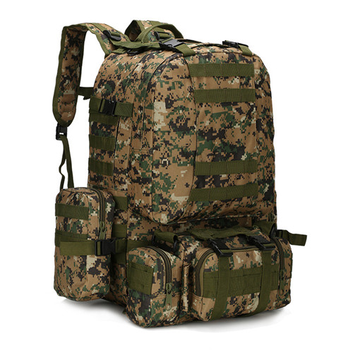 Grand sac à dos tactique Molle 55L avec 3 sacs à dos militaires sac à dos de Combat en plein air sac d'assaut de 3 jours