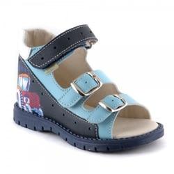 Comfortabele schoenen voor kinderen echt lederen sandalen voor jongens anatomisch juiste zool Russische Factory Skorokhod schoenen