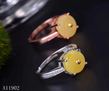 KJJEAXCMY fine jewelry 925 sterling silver inlaid natural gemstone amber wax female ring support test kjjeaxcmy fine jewelry 925 sterling silver inlaid natural gemstone amber wax female ring support test