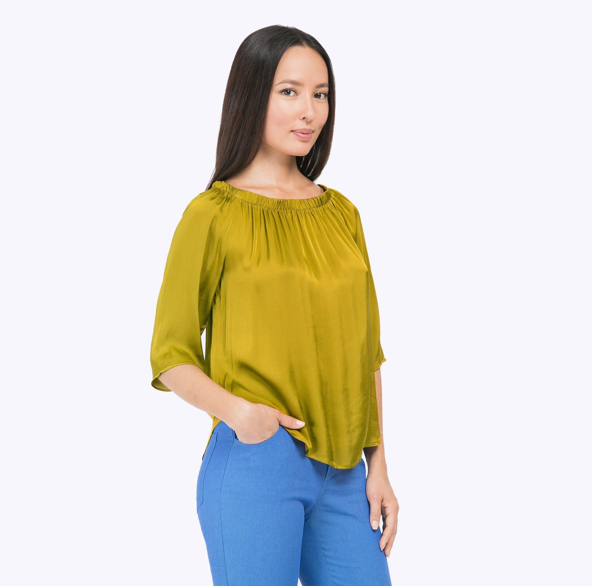 Blouse B2269/gala ruffle trim blouse
