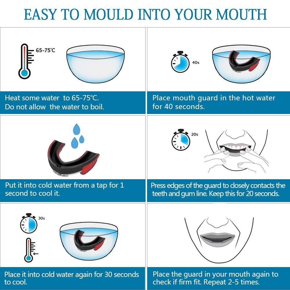Teeth Protecting Mouth Guard for Boxing/Kick-Boxing/MMA/Fighting for complete Mouth protection 5