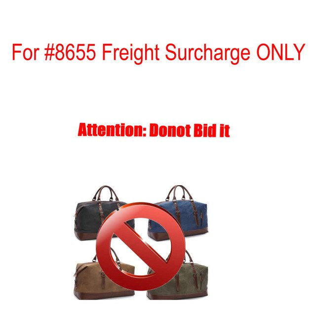 For MARKROYAL 8655 Canvas Leather Men Travel Bags Freight Surcharge Listing Only #8655 4000082461171