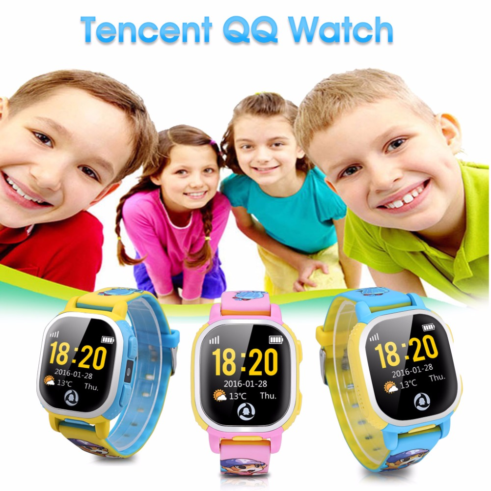 Tencent QQ Kids GPS SIM card Watch Wifi Smart Activity Tracker Watch Phone gps tracker SOS Call cartoon-watch for Android ios wireless service call bell system popular in restaurant ce passed 433 92mhz full equipment watch pager 1 watch 7 call button