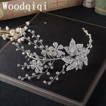 Tiara de accesorios nupciales para novia tiaras para noiva lembrancinha de casamento hoja peina novia accesorios cabeza mujeres