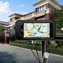 Bicycle Motorcycle Mobile Phone Holder bike bags for iphone 5 5S 7 8 Plus Waterproof shockproof GPS Bike Case