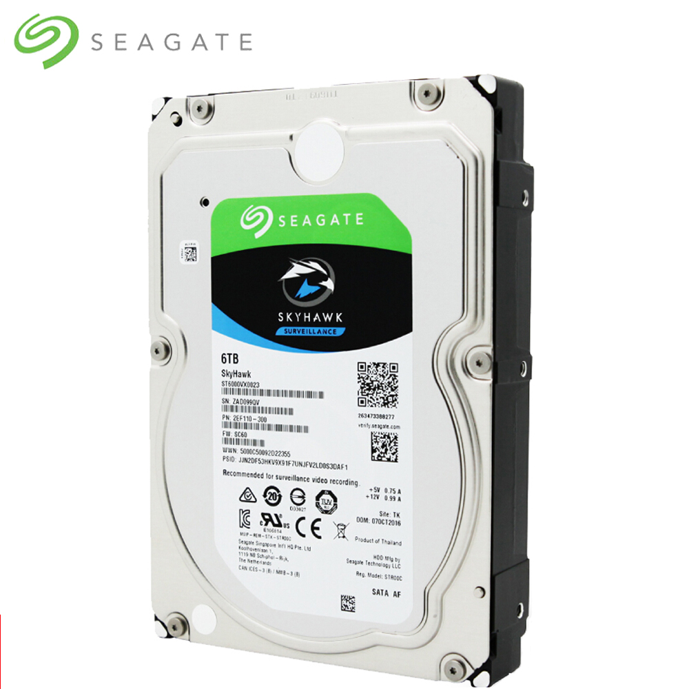 Seagate 6TB Video Surveillance HDD Internal Hard Disk Drive 7200RPM SATA 6Gb s 3 5 6