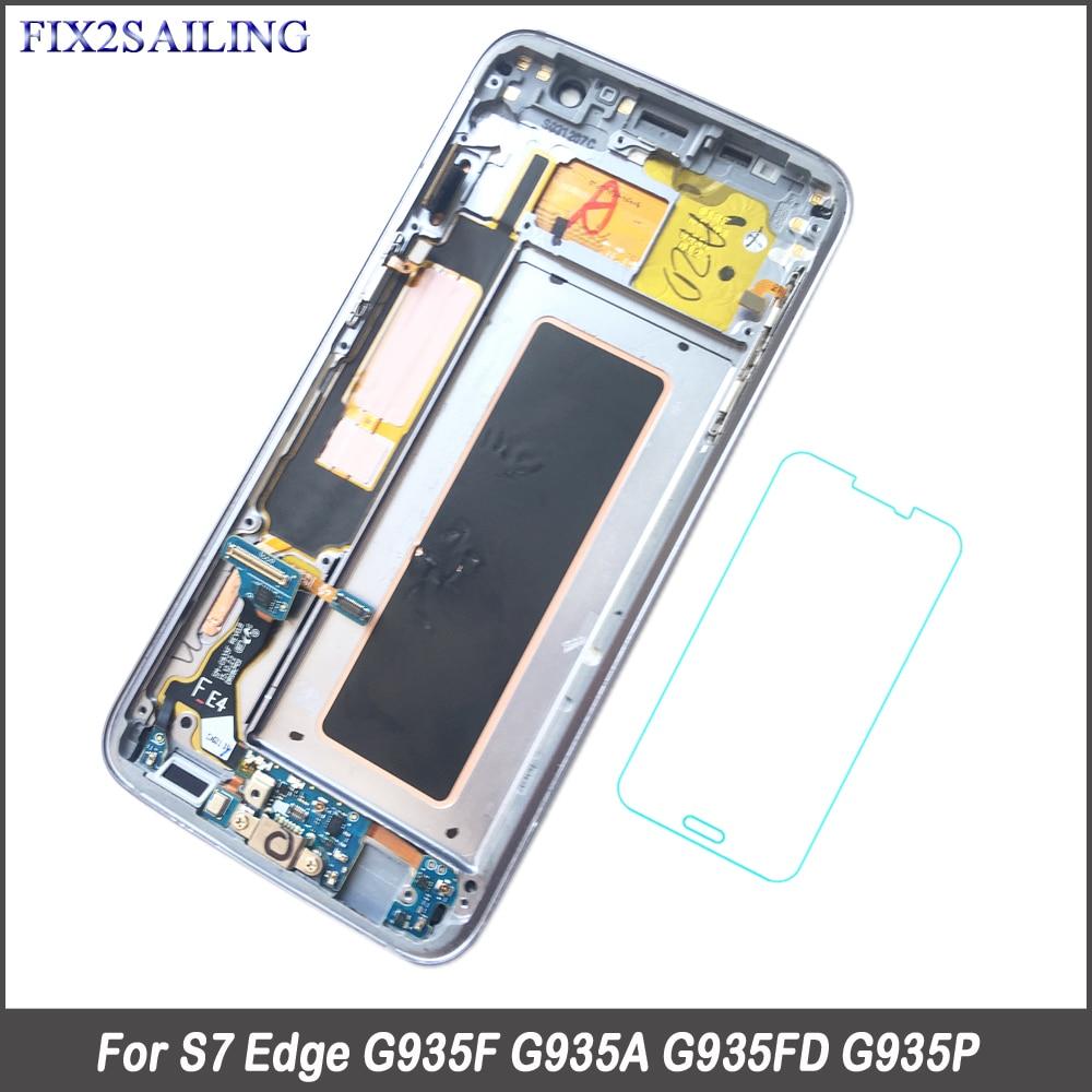 FIX2SAILING 100% Testé Travail AMOLED LCD Affichage Tactile Assemblée D'écran Pour Samsung Galaxy S7 bord G935F G935FD G935W8