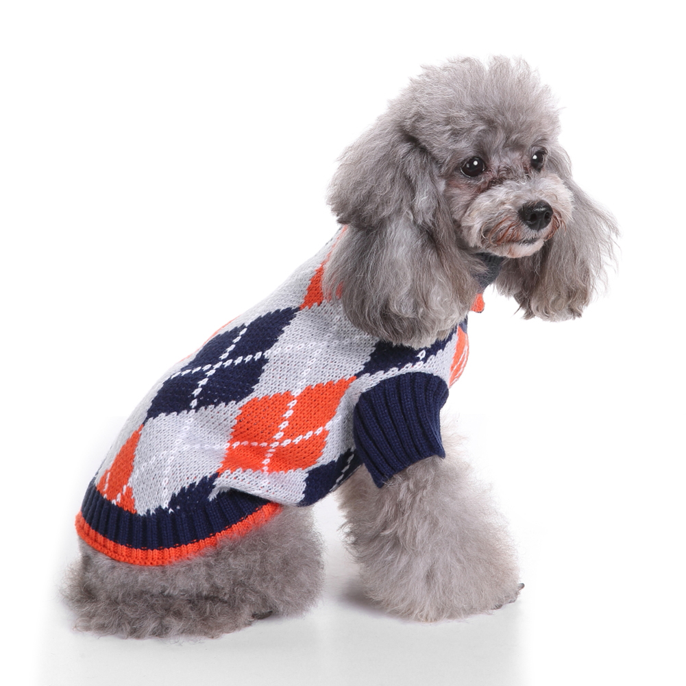 Pet Puppy Dog Cat Warm Sweater Knit Clothes Coat Apparel Costumes Outwear