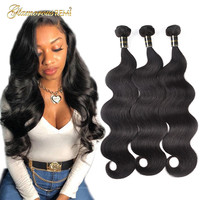 Brazilian Virgin Hair Body Wave Unprocessed Body Wave Human Hair Bundles Wet and Wavy Human Hair Weave Extensions Natural Color