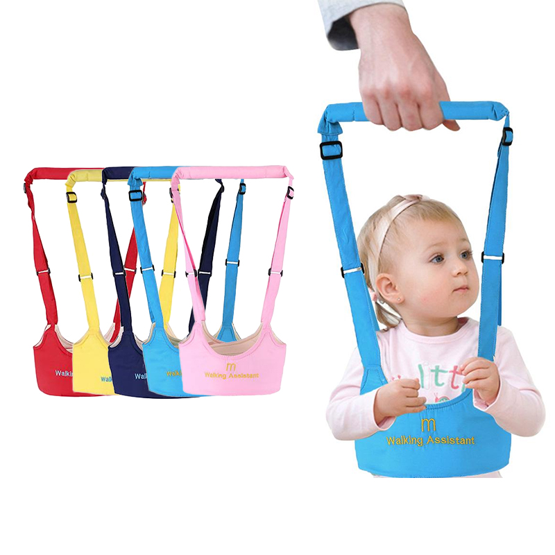 Baby Walker Harness Breathable Vest Style Cotton Assistant Leash For Toddler Learning Walking Safety Belt Baby Care Props