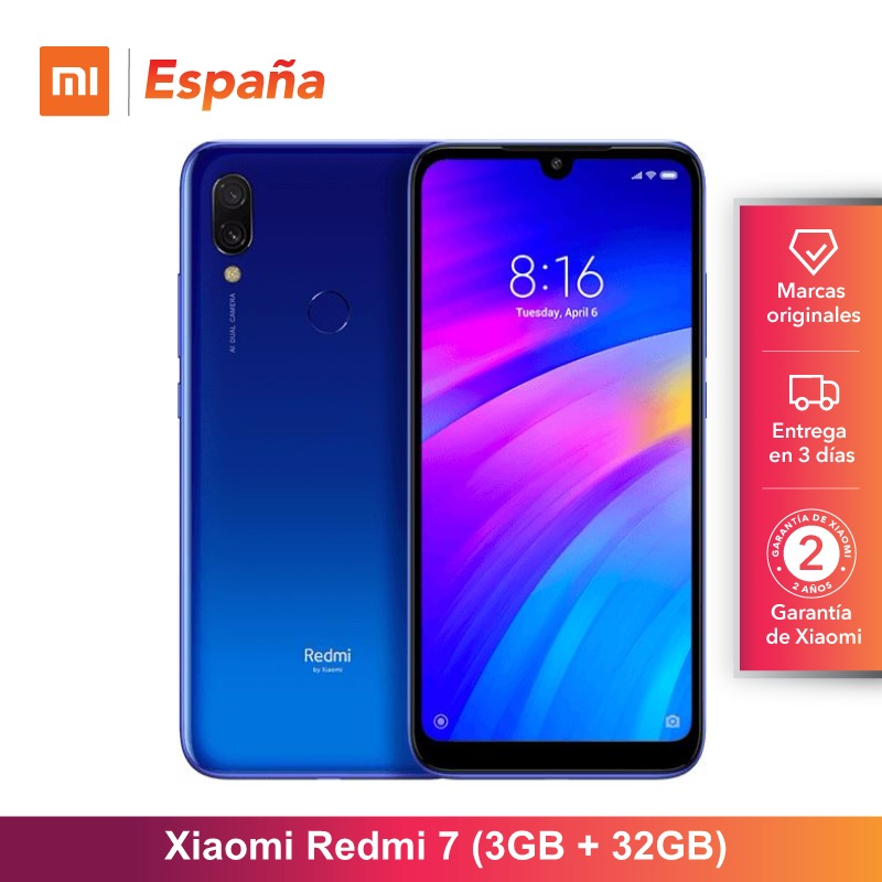 Global Version for Spain Xiaomi Redmi 7 Memoria interna de 32GB RAM de 3GB Bateria