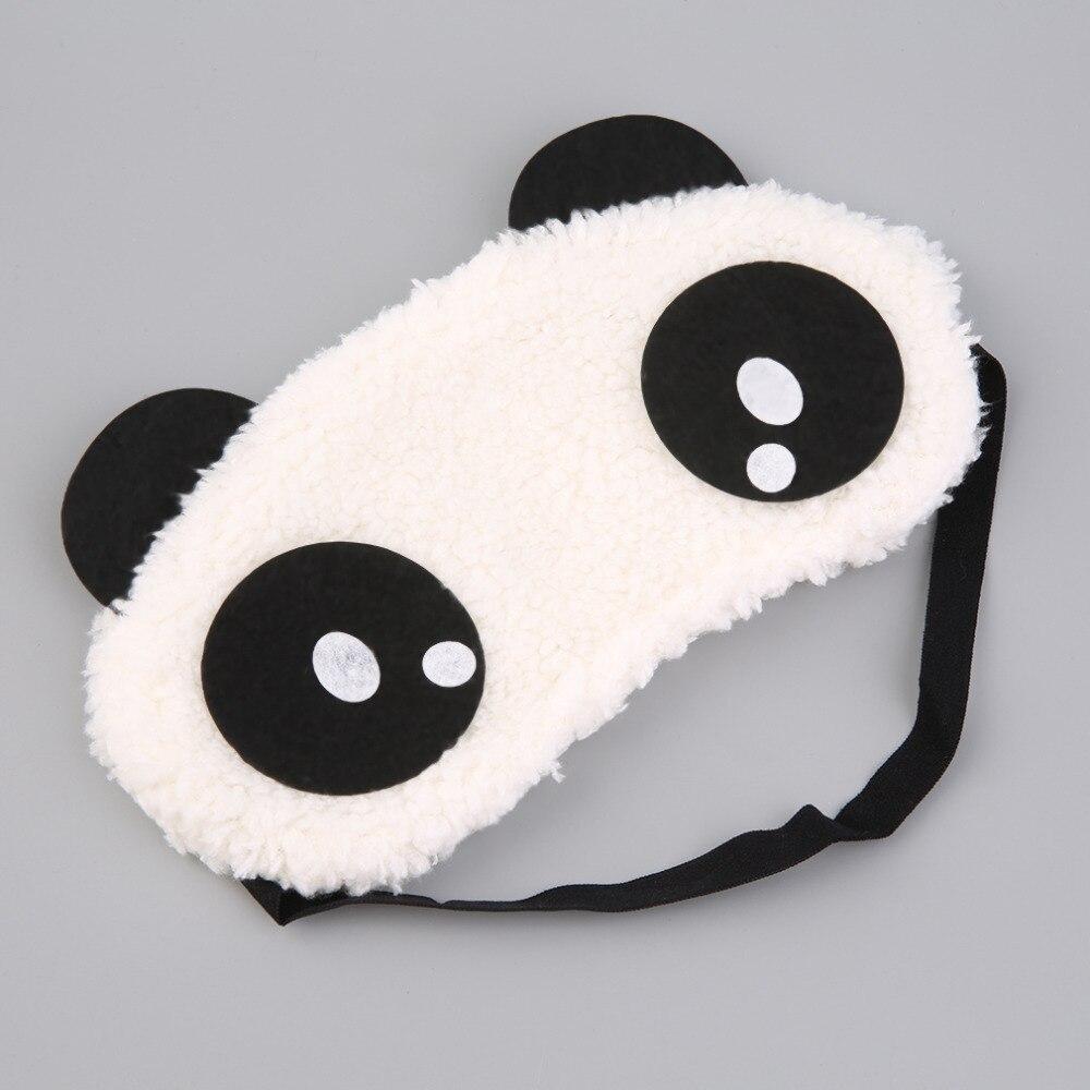 Cute Design Plush Panda Face Eye Mask Travel Sleeping Soft Eye Masks Blindfold Shade Portable Relieve Stress Sleeping Eye Cover
