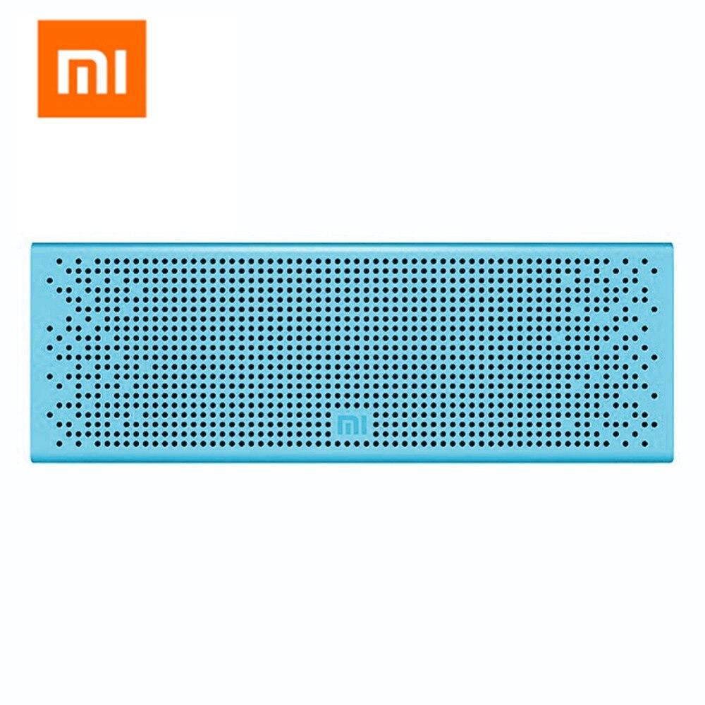 цена на Xiaomi Mi Bluetooth Speaker Mini Portable Wireless Square Metal AUX Input Bluetooth Speakers Music MP3 Player Support Handsfree