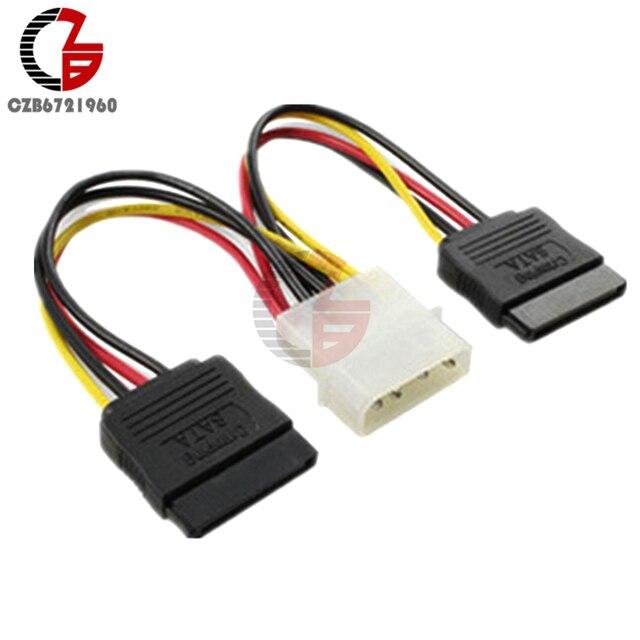 10 pièces 4 broches IDE Molex à 2 série ATA SATA disque dur adaptateur dalimentation câble connecteur de fil