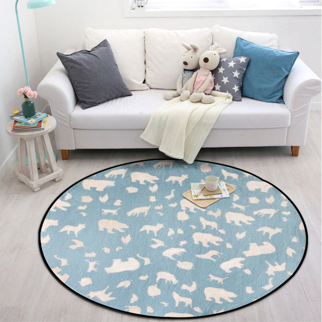 Comfortable Cartoon Animal Crawling Blanket Carpet Children Room Decor Cute Lovely Soft Baby Play Rugs Creeping