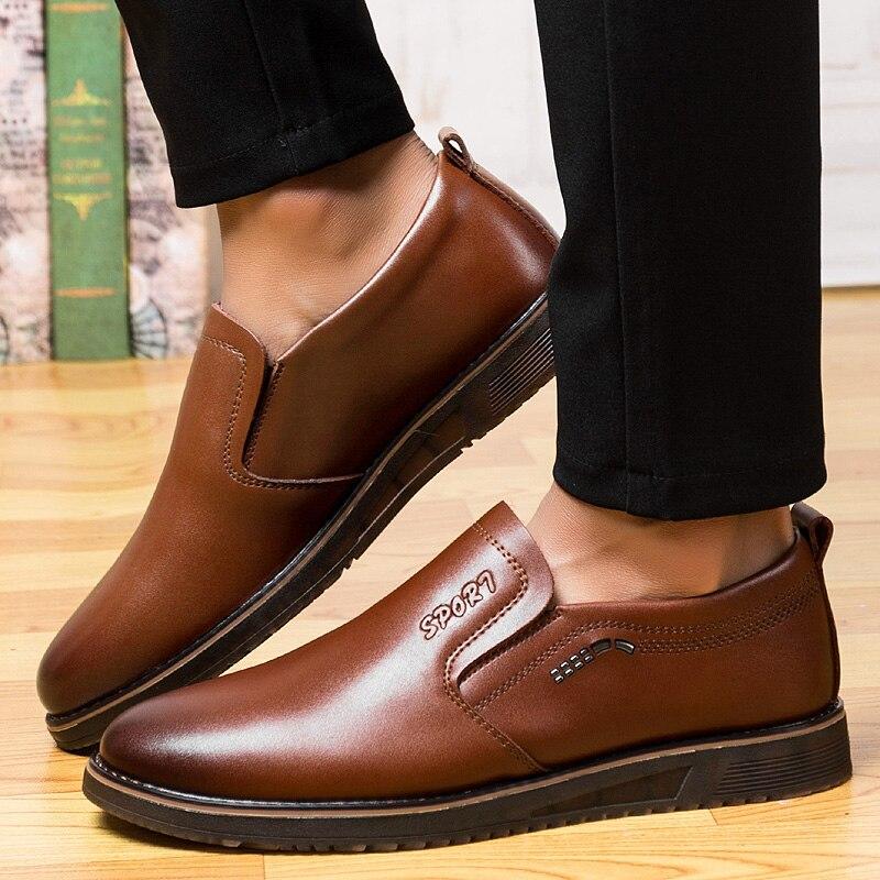 Homme Qualité Haute Cuir Bout En Évider Chaussures chocolat Sur Pointu Formelle Blanc Habillées 2018 Sandales Slip 5 Noir Hommes Noir zaqvnBw