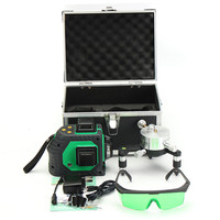 12 Line 3D Green Laser Level Self 360Rotaty Outdoor Receiver Leveling Vertical Horizontal Cross Level Multi