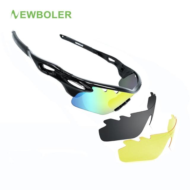 Newboler Pria Wanita Terpolarisasi Bersepeda Kacamata Olahraga Luar Ruangan  Kacamata Hitam MTB Sepeda Kacamata Balap b954ba91b0